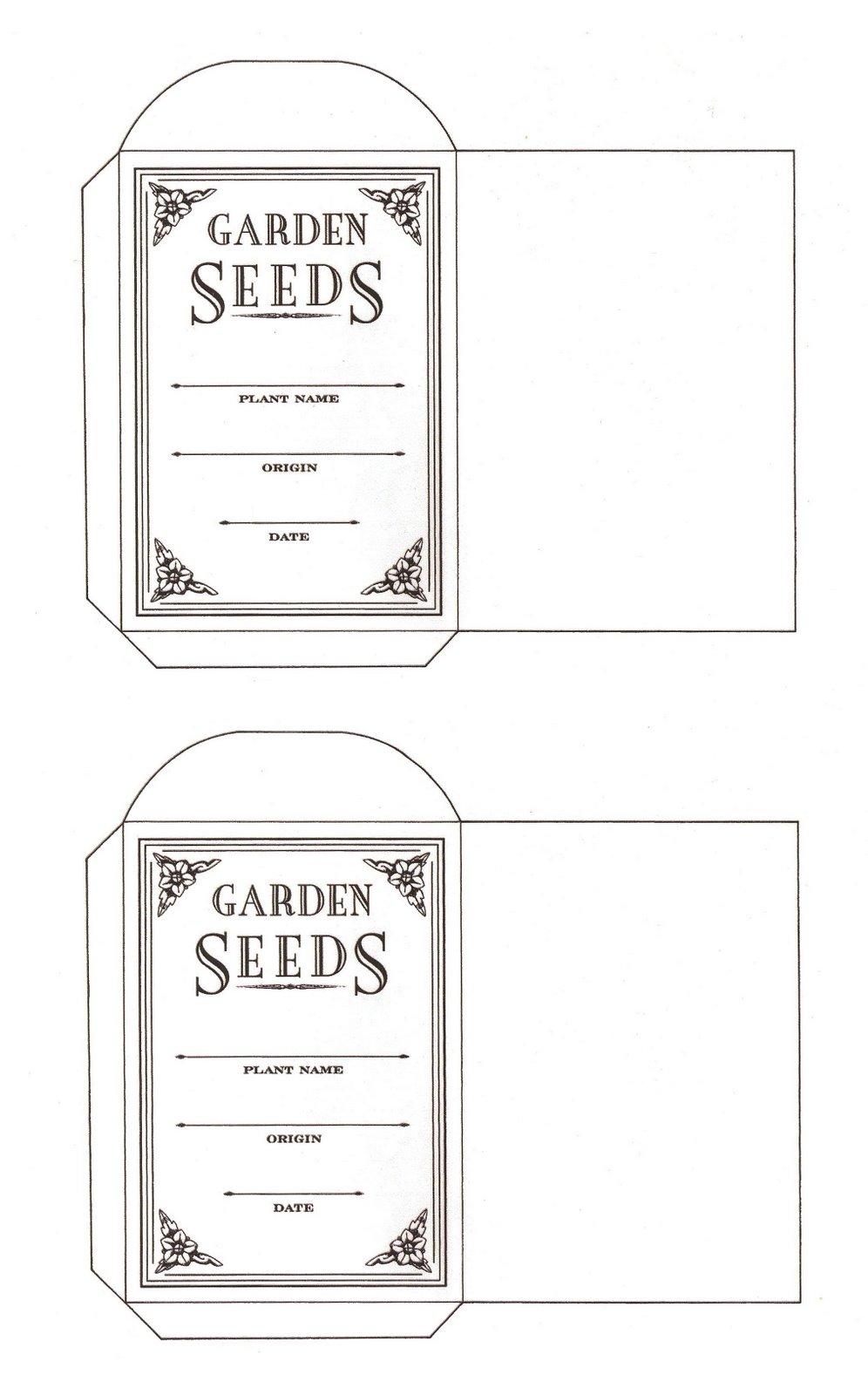 graphic regarding Free Printable Seed Packets identified as Seed Amassing Ridgeway Backyard garden Club